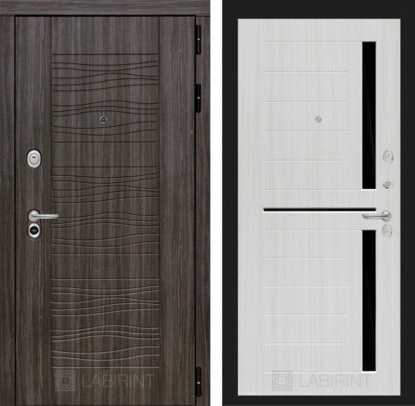 Стальная дверь ЛАБИРИНТ SCANDI - 02 - Сандал белый