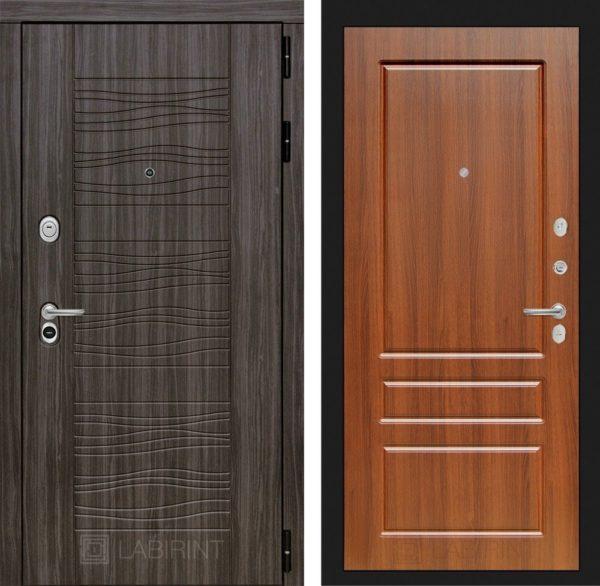 Стальная дверь ЛАБИРИНТ SCANDI - 03 - Орех бренди