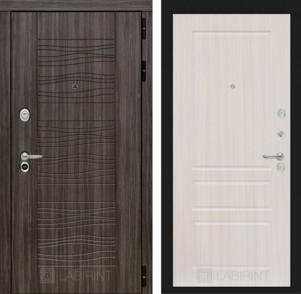 Стальная дверь ЛАБИРИНТ SCANDI - 03 - Сандал белый