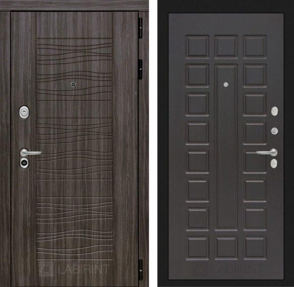 Стальная дверь ЛАБИРИНТ SCANDI - 04 - Венге