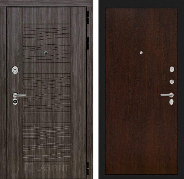 Стальная дверь ЛАБИРИНТ SCANDI - 05 - Венге