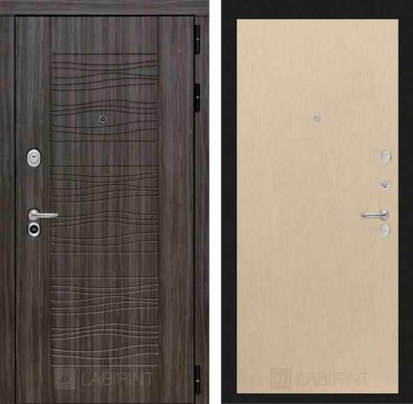 Стальная дверь ЛАБИРИНТ SCANDI - 05 - Венге светлый