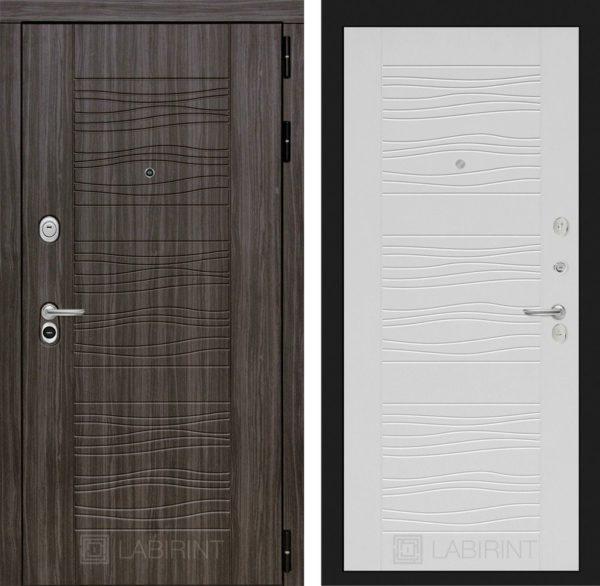 Стальная дверь ЛАБИРИНТ SCANDI - 06 - Белое дерево