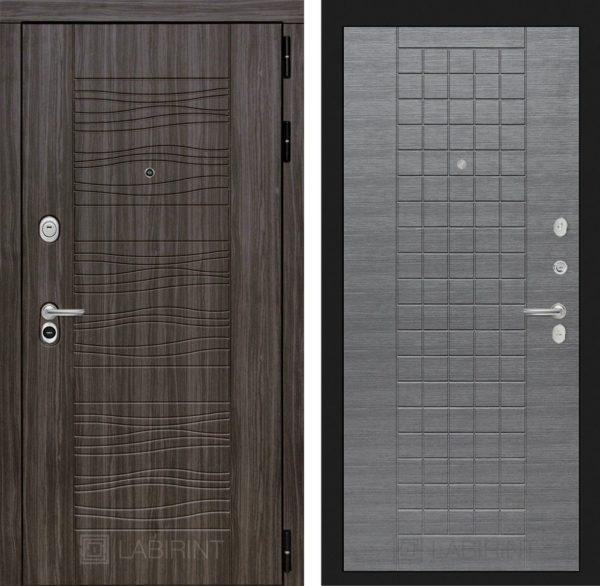 Стальная дверь ЛАБИРИНТ SCANDI - 09 - Лен сильвер грей