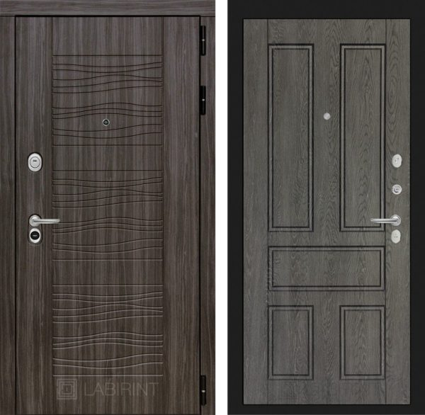 Стальная дверь ЛАБИРИНТ SCANDI - 10 - Дуб филадельфия графит