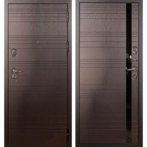 Стальная дверь ЛЕКС ЛЕГИОН Ясень шоколад (панель на выбор)