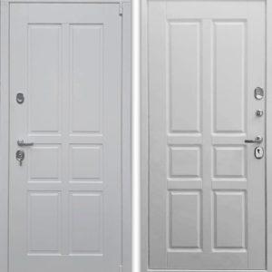 Белая входная дверь Воевода Сотник-5