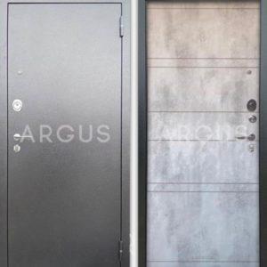 Стальная дверь Аргус Люкс 3К Агат Дуо светлый бетон
